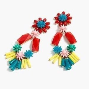 J.Crew Flower Bomb Chandelier Earrings